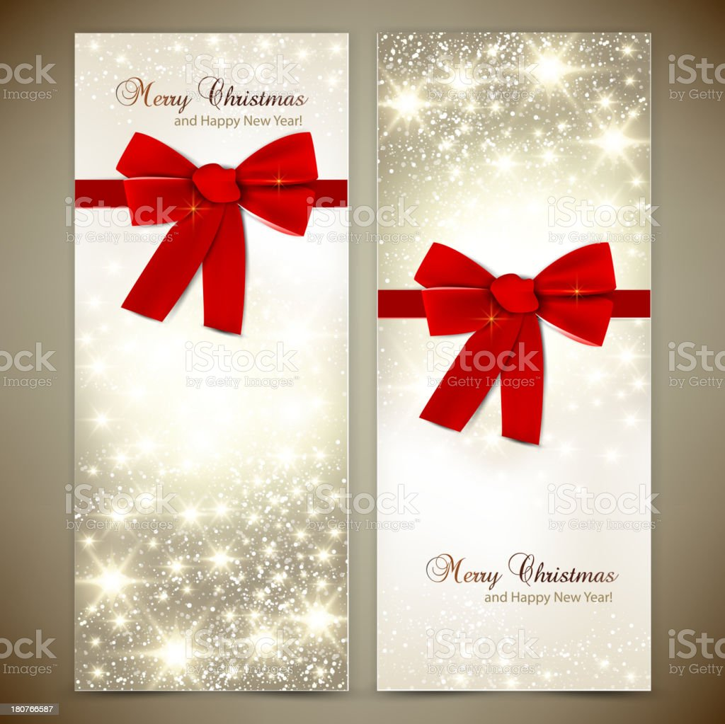 Set of Christmas Banners royalty-free stock vector art