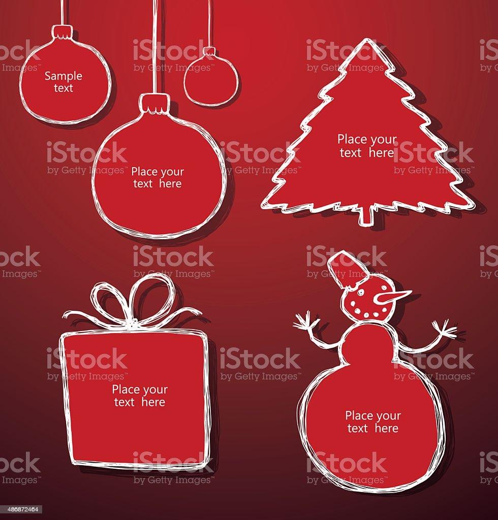 Set of Christmas banners vector art illustration