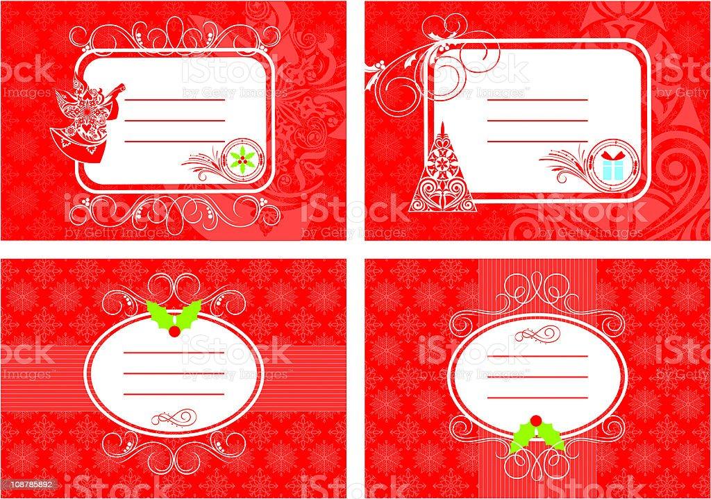 set of christmas card royalty-free stock vector art