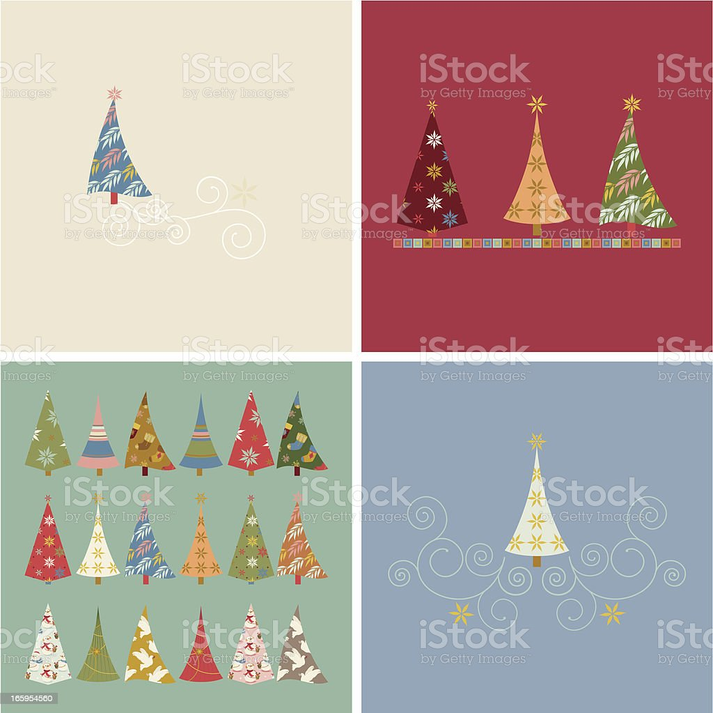 Set of Christmas Cards royalty-free stock vector art