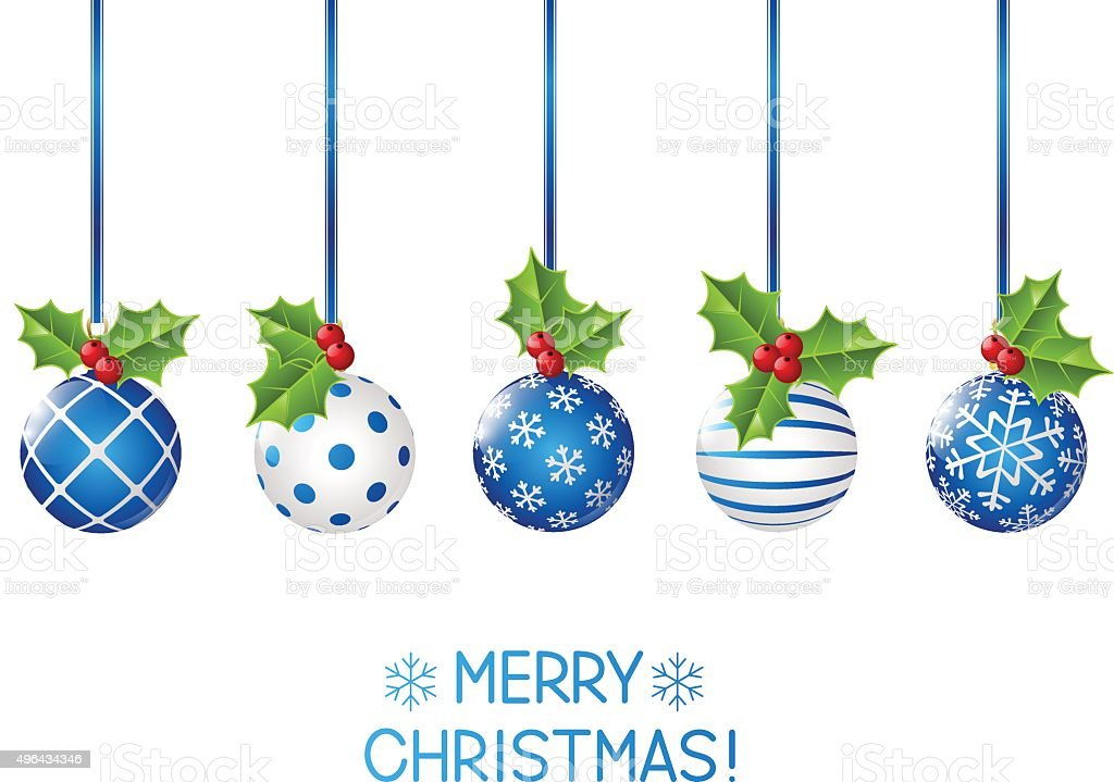 Set of Christmas decorations for Your design vector art illustration