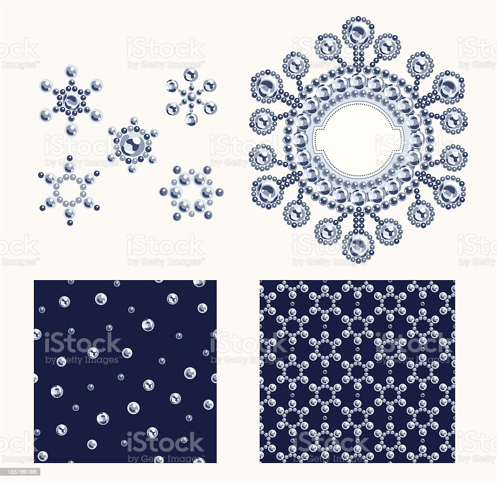 Set of Christmas Design Elements royalty-free stock vector art