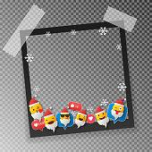 Set of Christmas frames,vector christmas border, christmas frame picture, christmas decoration