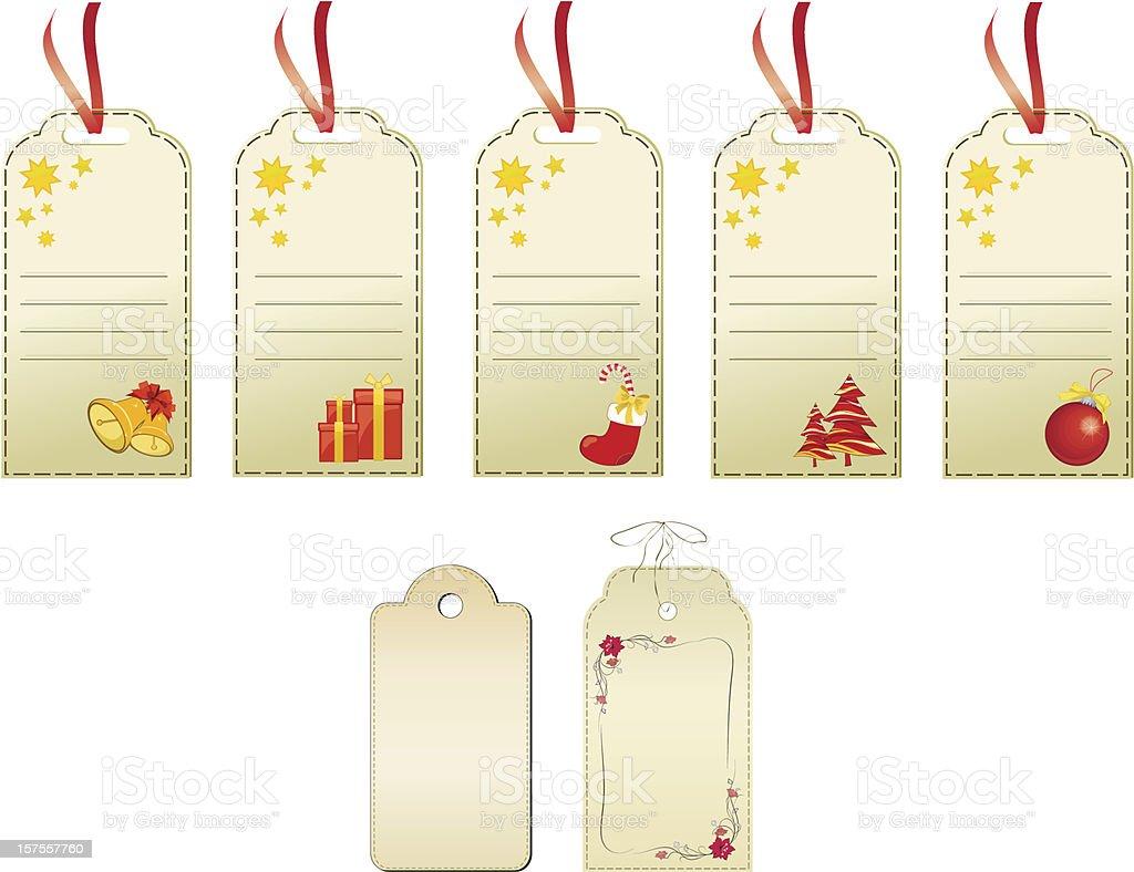 Set of christmas gift tags royalty-free set of christmas gift tags stock vector art & more images of art
