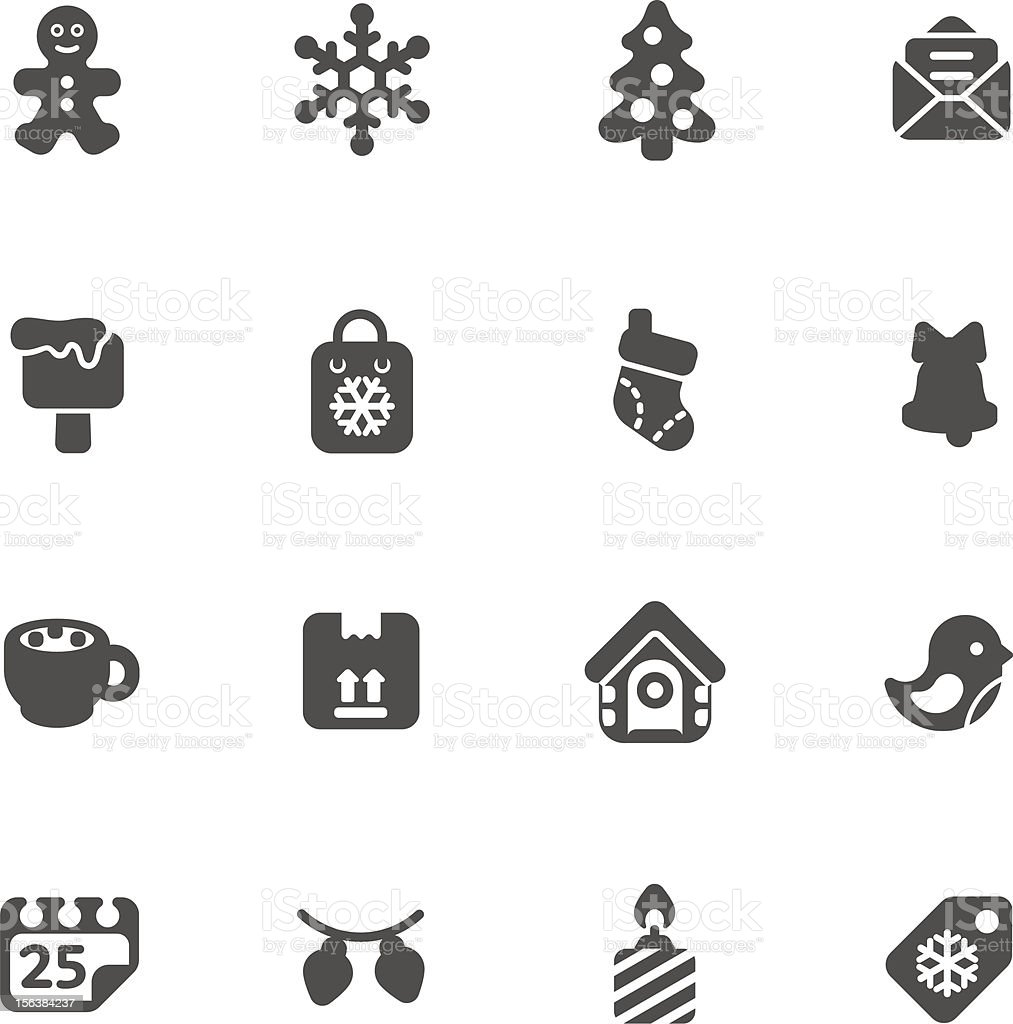 set of christmas icons royalty-free set of christmas icons stock vector art & more images of box - container