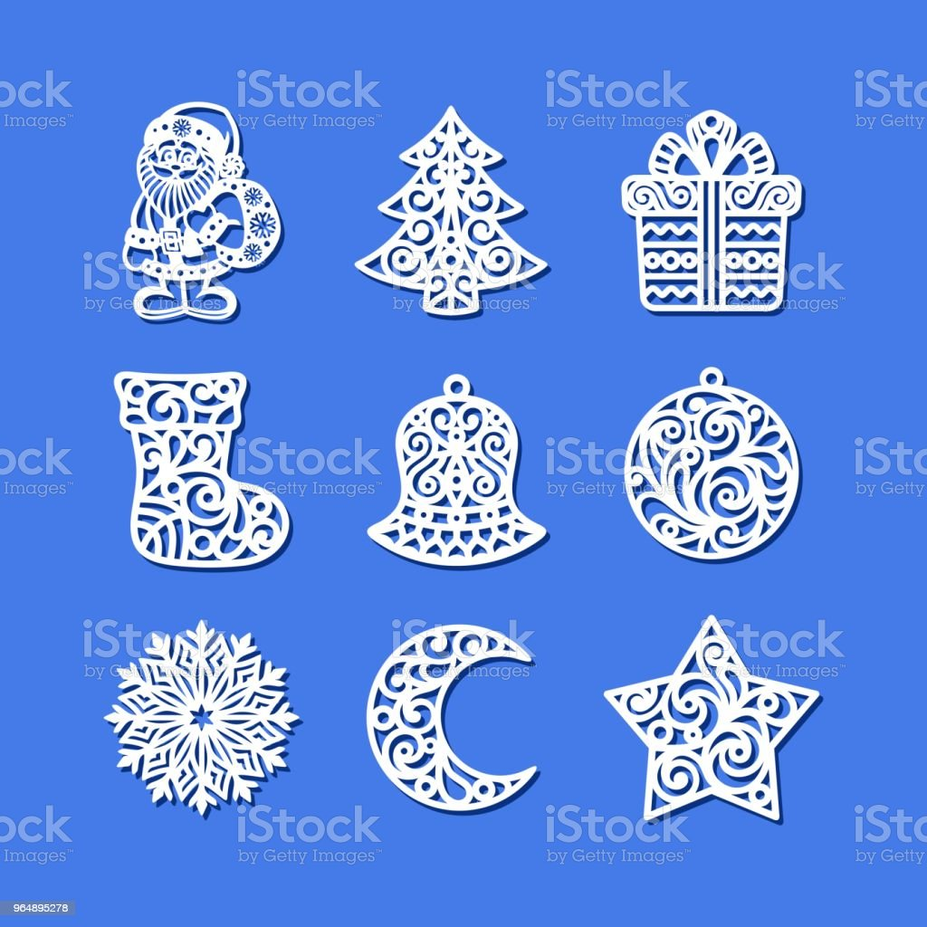Set of Christmas Icons. royalty-free set of christmas icons stock vector art & more images of ball