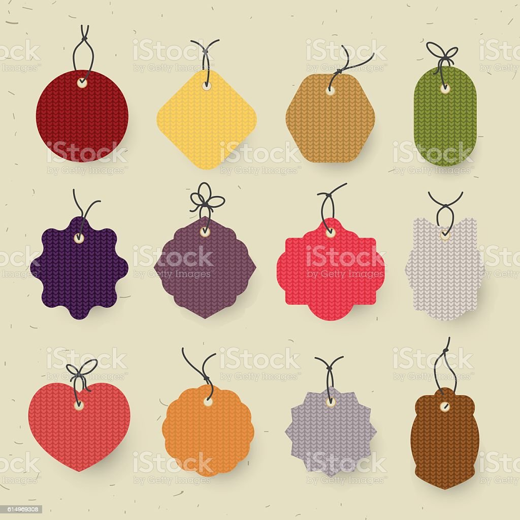 Set Of Christmas Label And Backgroundchristmas Tag Sign And Symbol