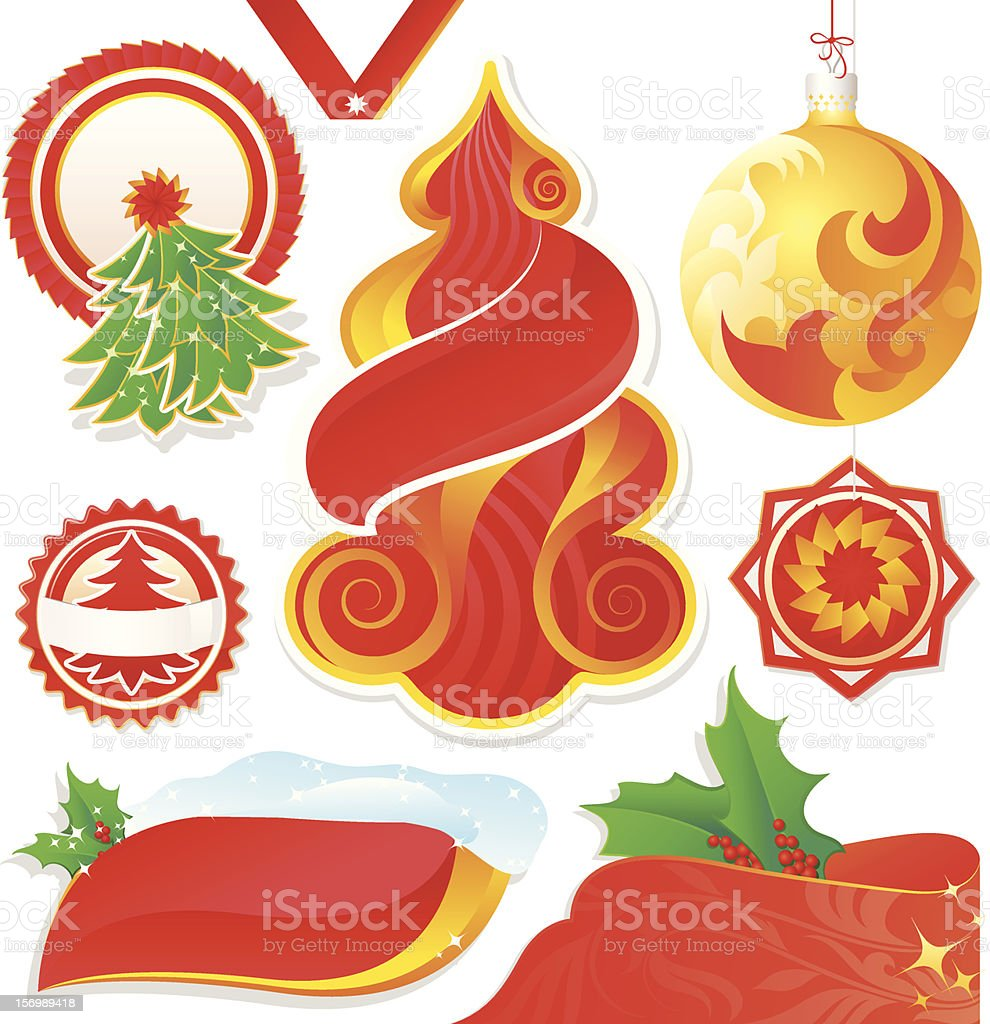 Set of Christmas Labels royalty-free stock vector art