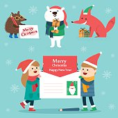 Set of Christmas lettering and graphic elements,vector illustrations for greeting cards