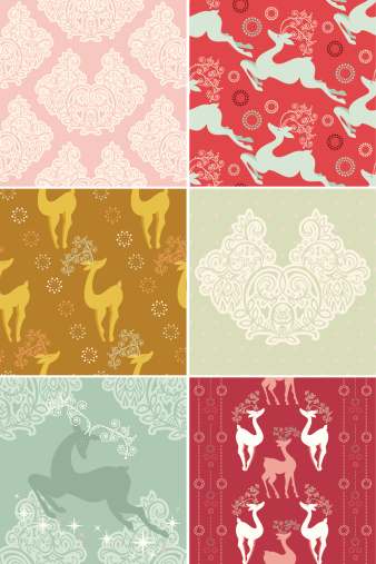 istock Set of Christmas Patterns 161169869