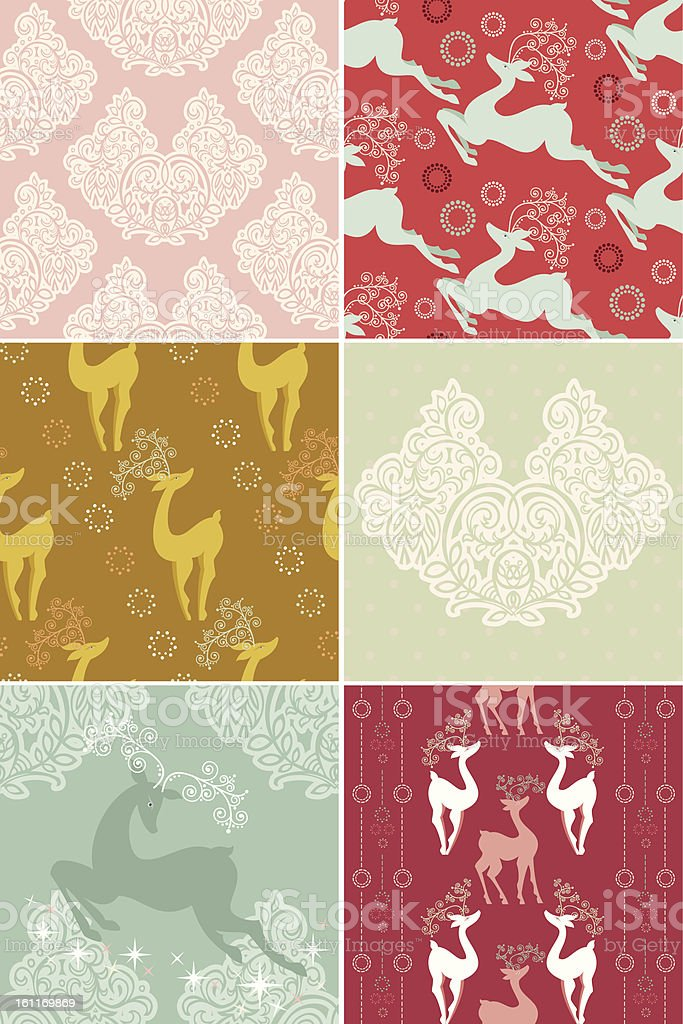 Set of Christmas Patterns stock photo