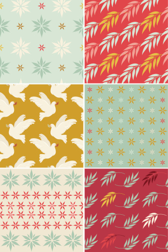 istock Set of Christmas Patterns 161172097