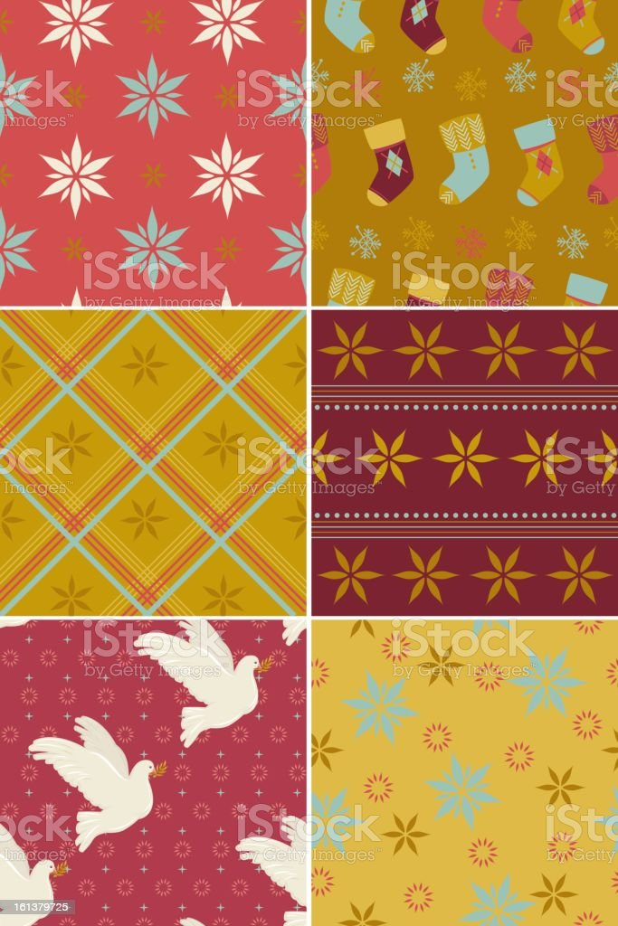 Set of Christmas Patterns royalty-free set of christmas patterns stock vector art & more images of animal markings