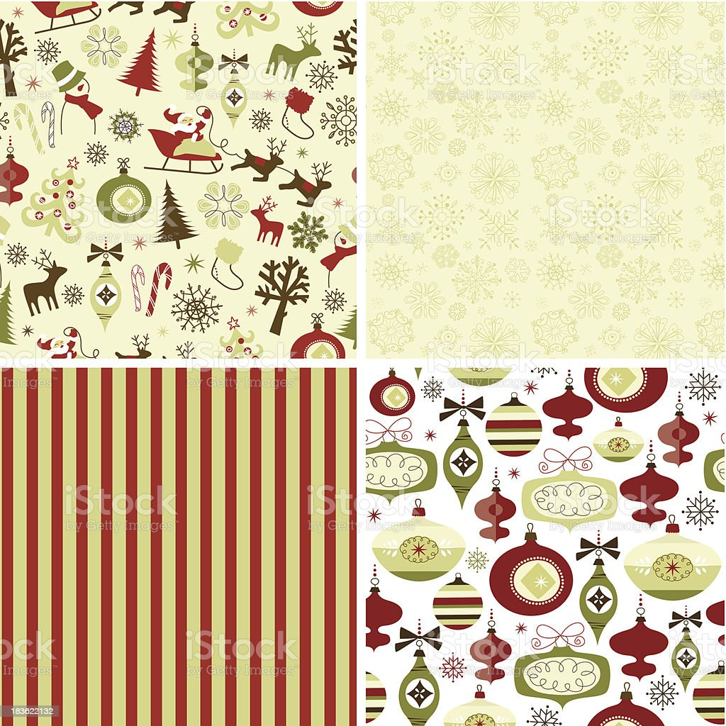 Set of Christmas patterns royalty-free stock vector art