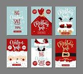 Set of Christmas sale banners.