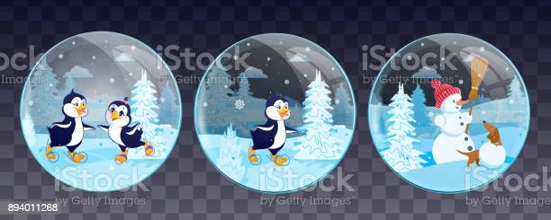 Set of christmas snow globe with penguins a snowman and a dog vector vector id894011268?b=1&k=6&m=894011268&s=612x612&h=cdkphbgejdit9ksinmmaatpq5ul5fofiksql lym7ri=
