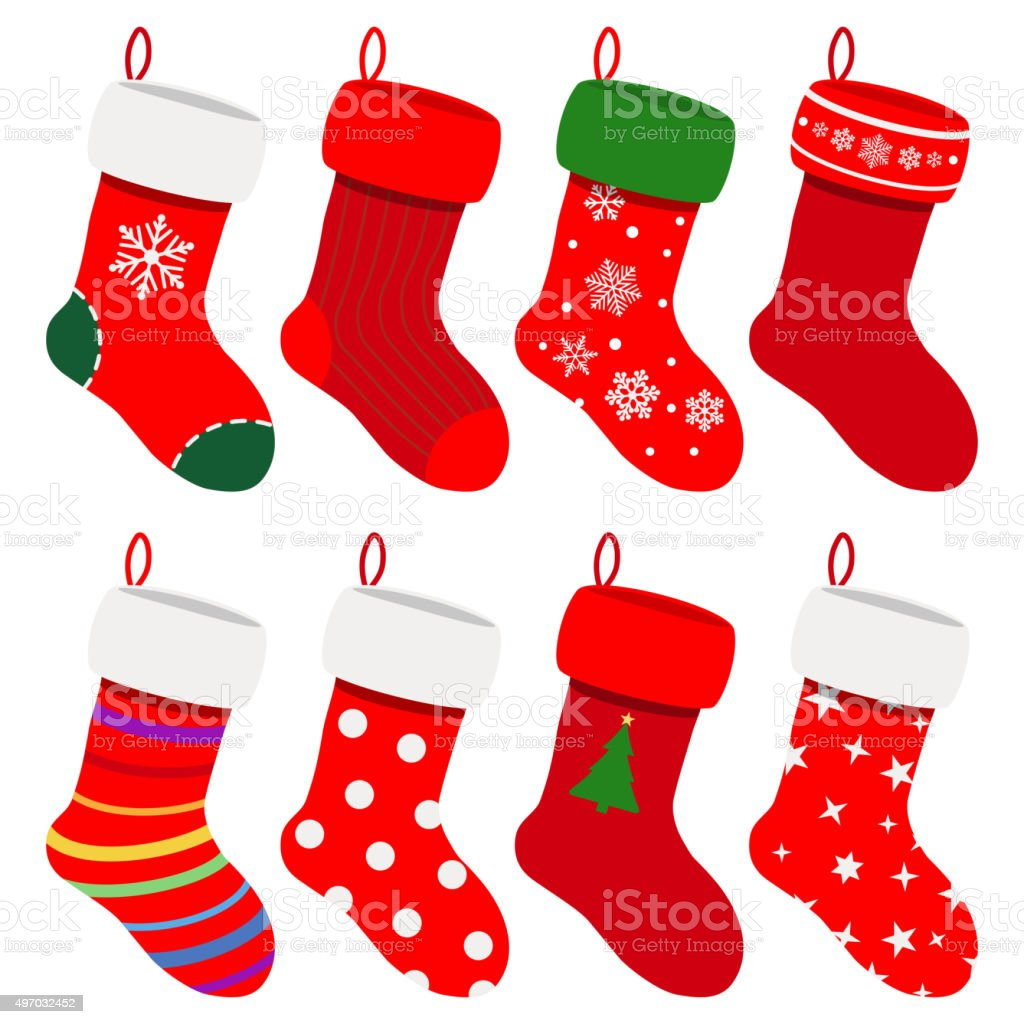 royalty free christmas stocking clip art vector images rh istockphoto com christmas stockings clipart black and white christmas stockings clipart black and white