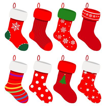 Set Of Christmas Socks Stock Illustration - Download Image ... (416 x 416 Pixel)