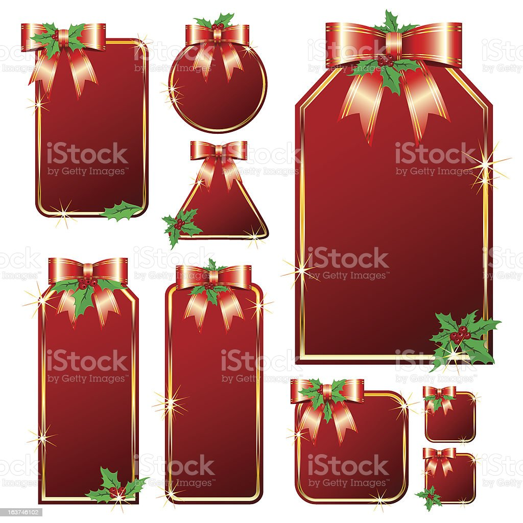 Set of Christmas tags royalty-free stock vector art