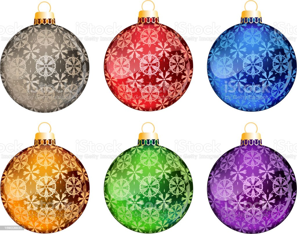 Set of Christmas tree balls royalty-free stock vector art