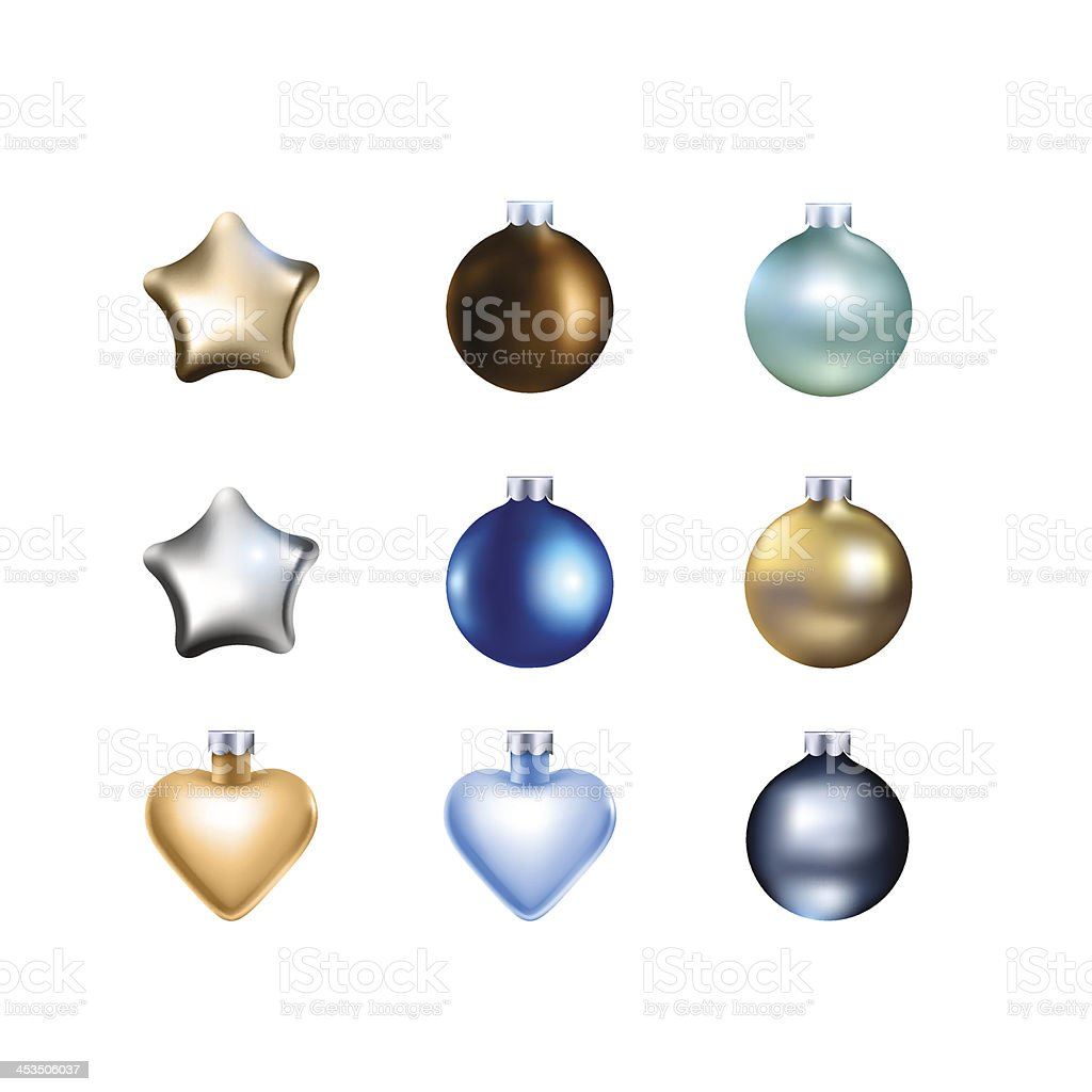 Set of Christmas Tree Decorations royalty-free set of christmas tree decorations stock vector art & more images of blue