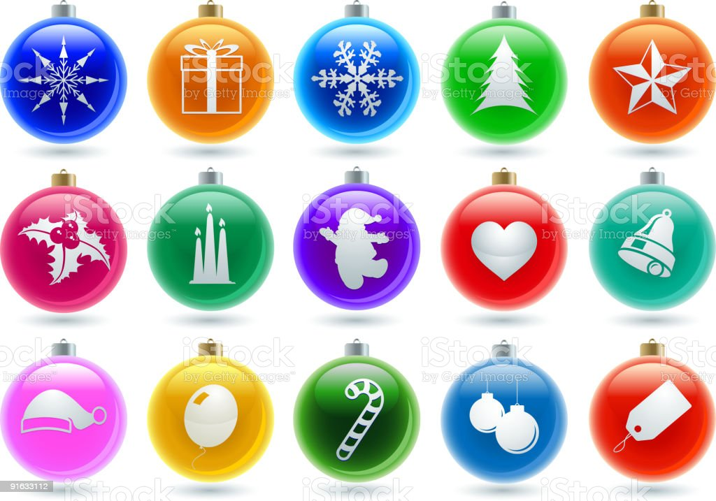 Set of Christmas royalty-free stock vector art