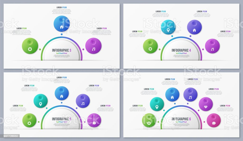 Set of circle chart templates with 3 4 5 6 7 8 options vector design set of circle chart templates with 3 4 5 6 7 8 options vector design ccuart Gallery