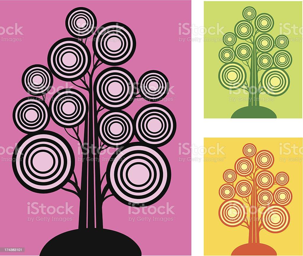 Set of Circular Trees royalty-free set of circular trees stock vector art & more images of abstract