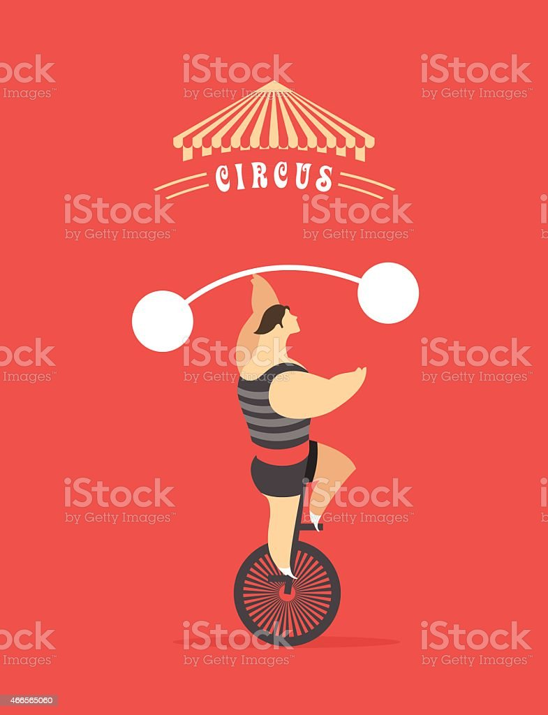 set of circus vector art illustration