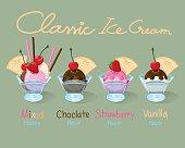 Set of Classic Ice Cream.