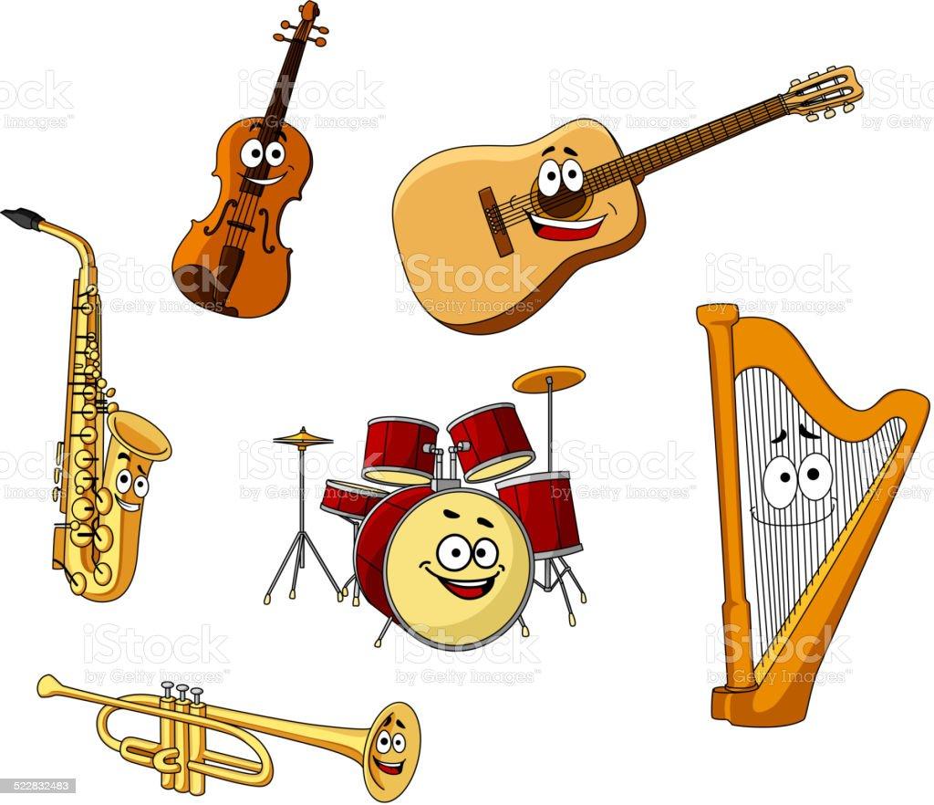 Satz Von Klassischen Musikinstrumente Stock Vektor Art und mehr ...
