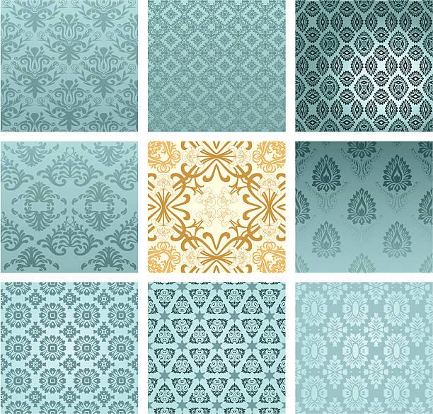 シームレスな壁紙 - ロココ調点のイラスト素材/クリップアート素材/マンガ素材/アイコン素材