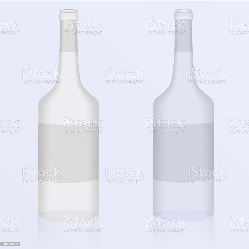 Set of clean bottles royalty-free stock vector art