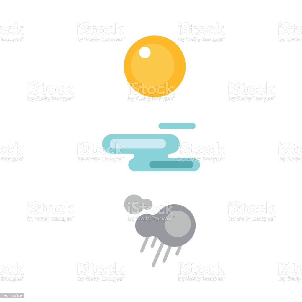 Set of climate forecast weather icons vector meteorology sky or sun nature element royalty-free set of climate forecast weather icons vector meteorology sky or sun nature element stock vector art & more images of arts culture and entertainment