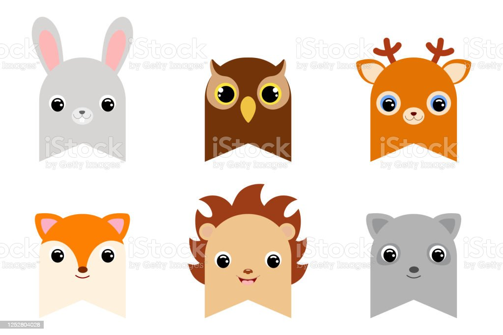Set Of Clipart Forest Animal Flags Decoration For Baby Shower Birthday Party Nursery Wall Decor Printable Adorable Woodland Themed Banner Flat Cartoon Colorful Vector Illustration Stock Illustration Download Image Now Istock
