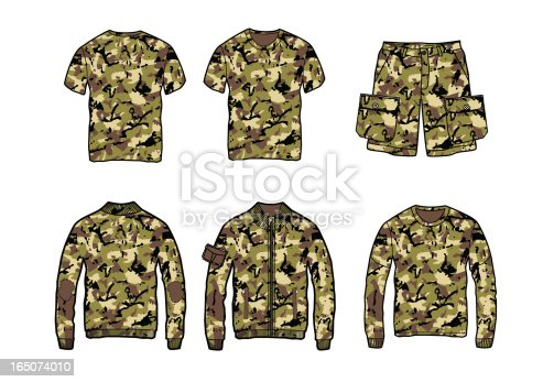 set of clothes with camo pattern
