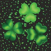 A set of clover leaves