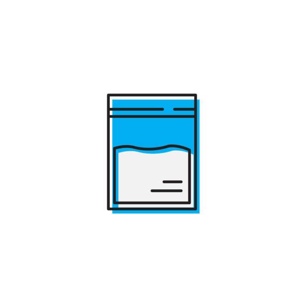 stockillustraties, clipart, cartoons en iconen met set van cocaïne packet vector icon geïsoleerd op witte achtergrond - amfetamine