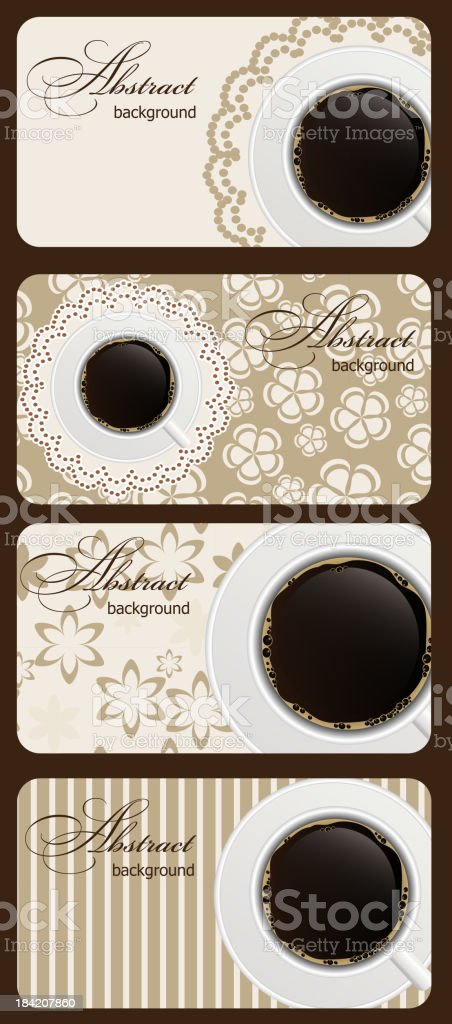 Set of coffee gift cards vector illustration royalty-free stock vector art