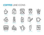 istock set of coffee line icons, such as tea, matcha, lemon, cocoa, milk, cream, pot, drinks 1158122084