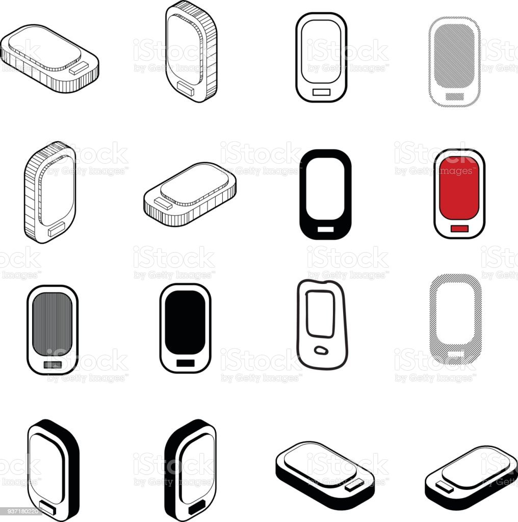 Set Of Collection Modern Vector Phone Icon Multi Type Of 3d