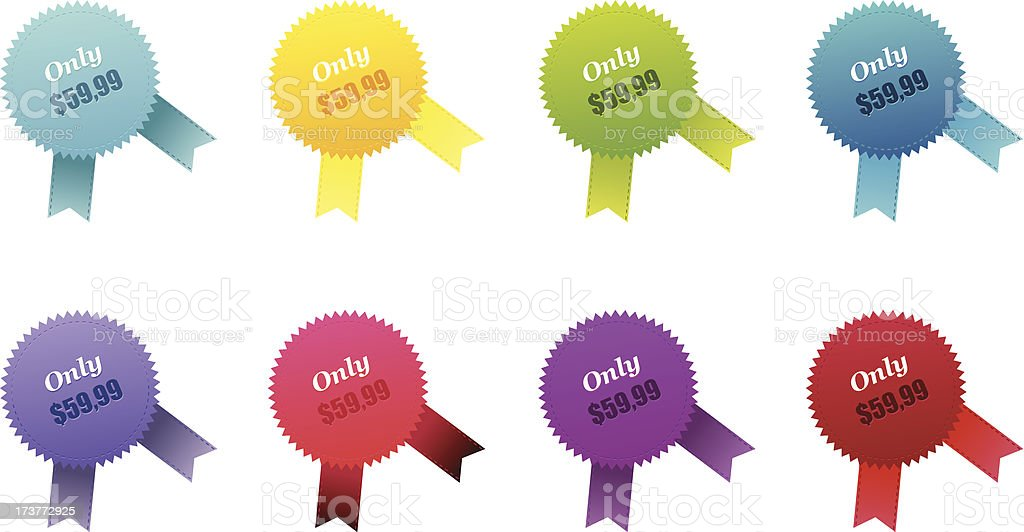 Set of color badges royalty-free stock vector art