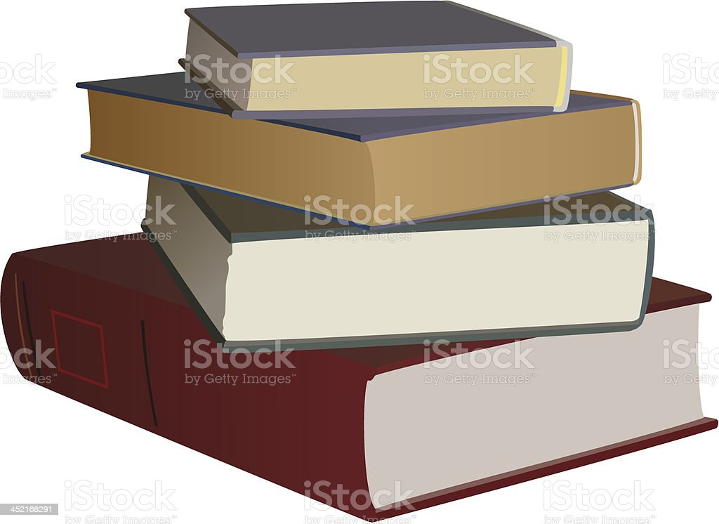 set of color books royalty-free stock vector art