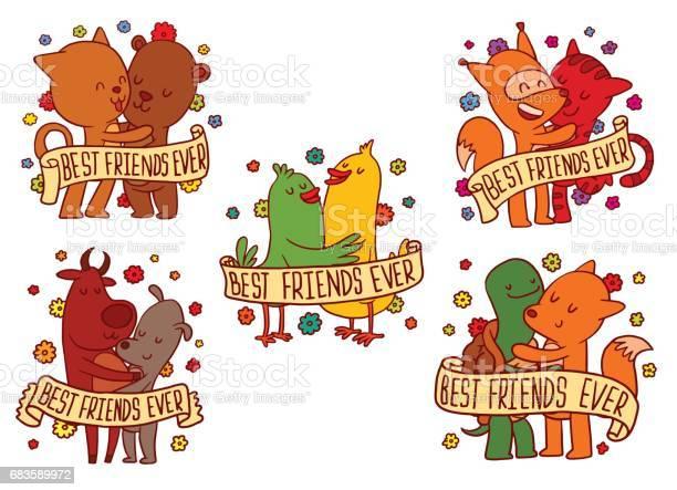 Set of color emblems with hugging animals vector id683589972?b=1&k=6&m=683589972&s=612x612&h=xaz29nnc1bjrcu7sefm7ehsvhqfshiugwbeudplc2kw=