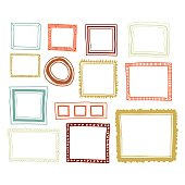 Vector illustration of a set of color frames