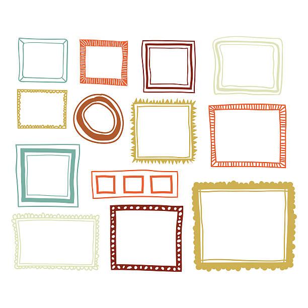 Set of color frames Vector illustration of a set of color frames frame border stock illustrations