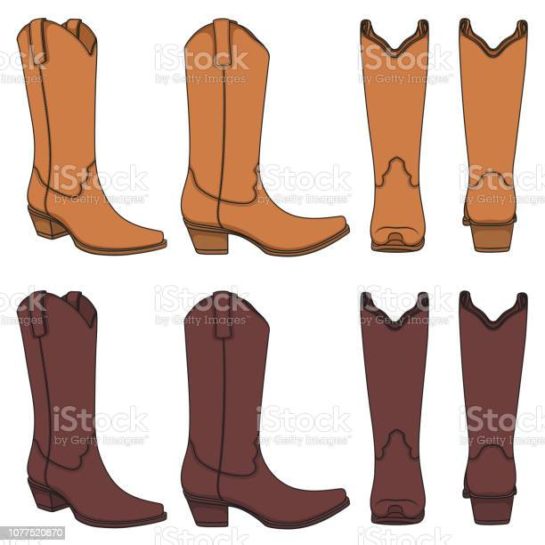 Set of color illustrations with cowboy boots isolated vector objects vector id1077520870?b=1&k=6&m=1077520870&s=612x612&h=i hnyg8t5g4lzmxehrsjzhb3dzyiw6lhdmpz2nyrgtk=