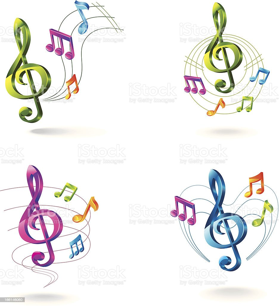 Set of color music icons. royalty-free set of color music icons stock vector art & more images of abstract