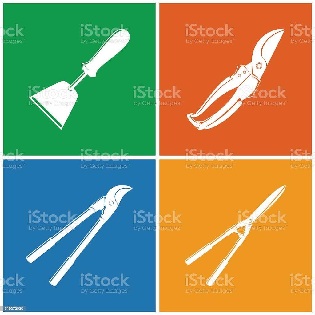 Set of Colored Agricultural  Icons vector art illustration
