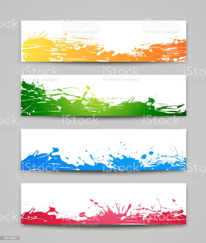 Set of colored backgrounds royalty-free stock vector art